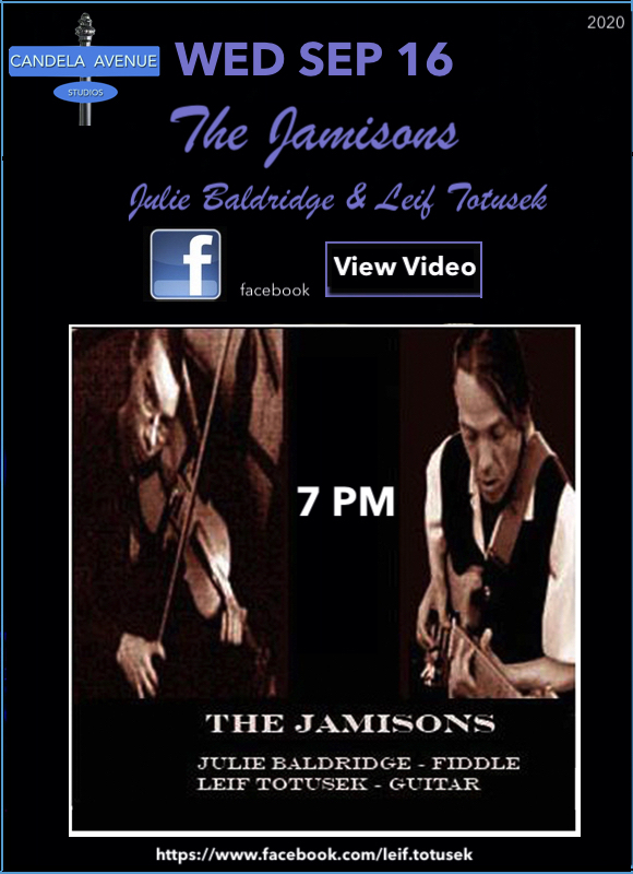 Leif Totusek The Jamisons Live on Facebook SEP 16, 2020